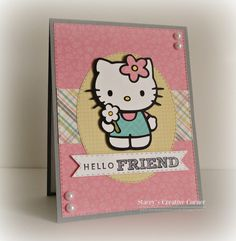 Stacey's Creative Corner: Hello Friend using Cricut Hello Kitty Greetings cartridge