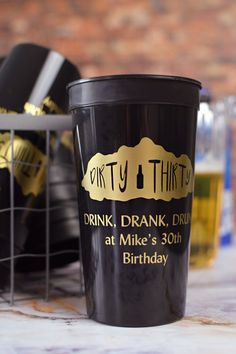 These jumbo 32 oz stadium cups are the Big Gulps of party cups. An extra large cup for a larger than life celebration. Great for mens milestone birthday parties, holding 28-30 ounces of your favorite beverage. Celebrate your 21st, 30th, 40th, and beyond with these custom cups. To order, visit http://www.tippytoad.com/32-oz-jumbo-adult-birthday-stadium-cups.asp