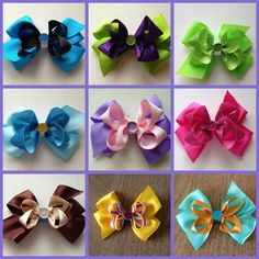 Disney+Princess+NonStacked+Bows+by+LillyBeanBowtique+on+Etsy,+$4.50