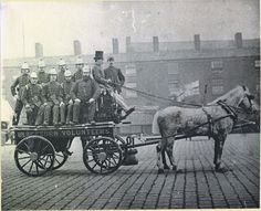 Blackburn's volunteer fire brigade, late 1890s