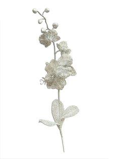 Orquidea plateada 90 cm #Navidad #Decoracion #Regalo #Deconline