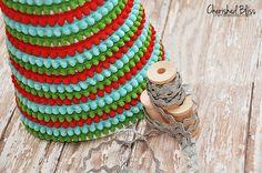 Pom Pom Ribbon Christmas Tree +giveaway - Cherished Bliss