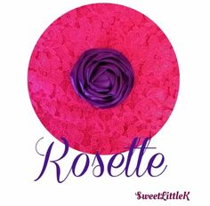 Purple rosette flower clip