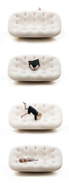 Nice ad for Ploum Sofa by Ronan & Erwan Bouroullec for Ligne Roset