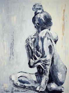 """""""Sculpture"""" by Ramune Art. canvas 60x80 cm.  Modern Art. Original Painting. Erotic Art."""