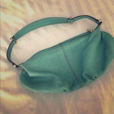 Leather Liz Claiborne Purse Never used! Super cute seafoam/turquoise color. Liz Claiborne Bags
