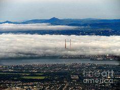 Fog Over Dublin - photograph by Alan Hogan Pigeon House, Dublin City, Dublin Ireland, The World's Greatest, East Coast, Mists, Fine Art America, Scenery, Weather