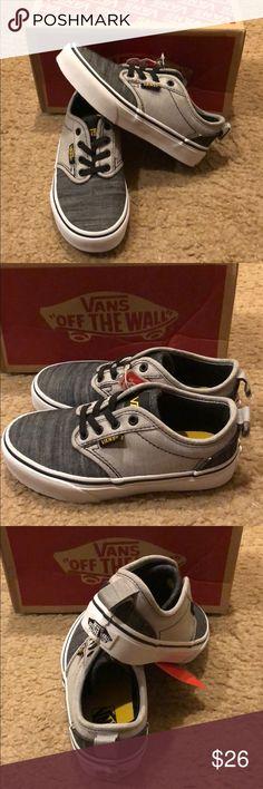e3c2fe726 Chambray Atwood Slip On Vans New in box. Black/grey Vans Shoes Sneakers Vans