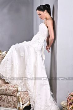 Like this one, too  Read More:     http://weddingspnina.com/index.php?r=fashion-sweetheart-with-3d-flower-weddign-dress.html