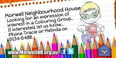 Colouring Group - http://morwellnh.org.au/colouring-group/ #GippsNews