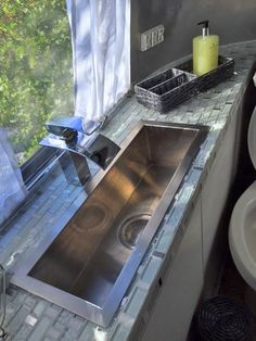 Airstream: Bath Sink with waterfall faucet