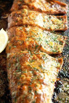 Cajun Salmon is one of those go to dishes when you don't have a lot of time to spend in the kitchen! In less than 15 minutes you have this delicious fish that's so full of flavor, people will think yo
