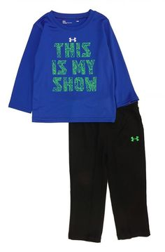 Under Armour Infant Boys This Is My Show Dry Fit Top 2pc Pant Set Size 24M c5a2e1d50