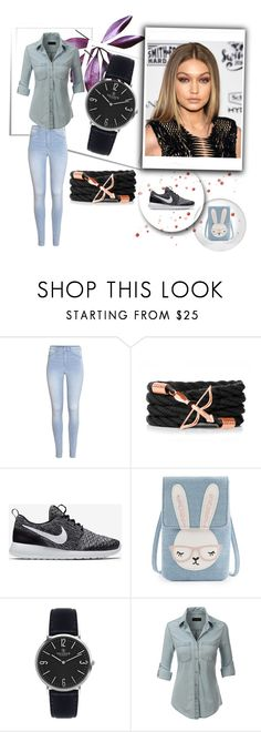 """""""francoflorenzi V"""" by caleb-hogan-330 ❤ liked on Polyvore featuring H&M, NIKE and LE3NO"""