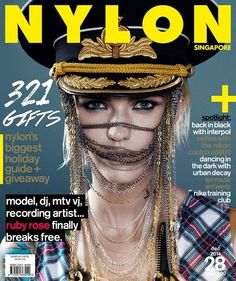 Nylon Singapur #28 Diciembre 2014: Ruby Rose.