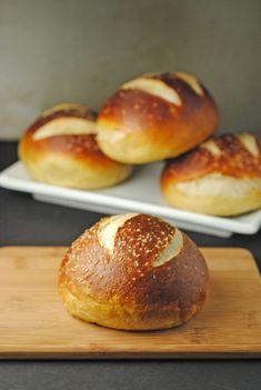 Homemade Pretzel Hamburger Buns...For Grillin' and All... | Juanita's Cocina