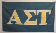 Alpha Sigma Tau Letter Sorority Flag 3' x 5' by GreekLifeStuff
