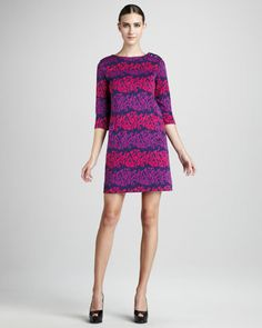 Navy-Print Dress by Lilly Pulitzer at Neiman Marcus.