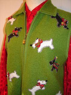 Scottie Doggie Christmas Holiday Upcycled by NopalitoVintageMore, $60.00