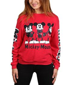 Take a look at this 'Mickey Mouse' Red Emotions Sweatshirt - Juniors today!