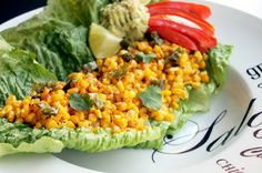 Roasted Corn Lettuce Wraps