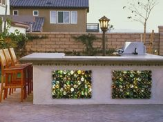 OUTSIDE BAR TILED WITH COLORFUL BOTTLES - Home and Garden Design Idea's
