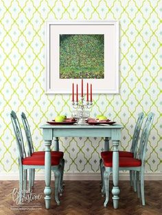 The new Wonderment Trellis Stencil from the darling new collection by pattern designer Bonnie Christine! Versatile in two sizes - perfect for walls, floors, smaller projects and MORE!