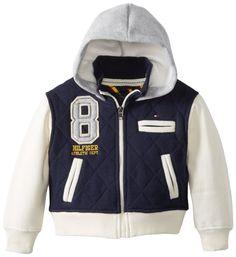 Tommy Hilfiger Boys 2-7 Alcide Hooded Varsity Jacket