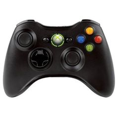 Xbox 360 Wireless Controller – Glossy Black  Unlike High-performance wireless gaming now comes in black! Using optimized technology, the black Xbox 360 Wireless Controller lets you enjoy a 30-foot range and up to 40 hours of life on the two included AA batteries – and when they run low, you're given ample warning so you can connect a Play & Charge Kit for uninterrupted play. Plug the Xbox 360 Headset into the controller for full two-way voice communication: a wireless first. The same..