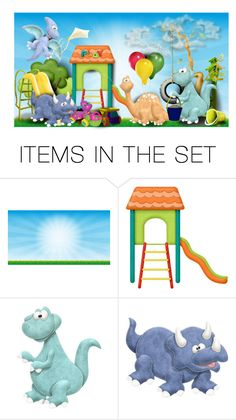 """""""Dinosaur Playground"""" by majezy ❤ liked on Polyvore featuring art"""
