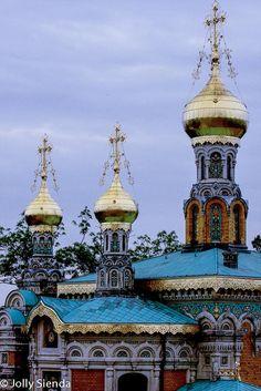The Russian Orthodox Church built by Czar Nicolas for his wife Alexandra, Darmstadt, Germany. by Jolly Sienda