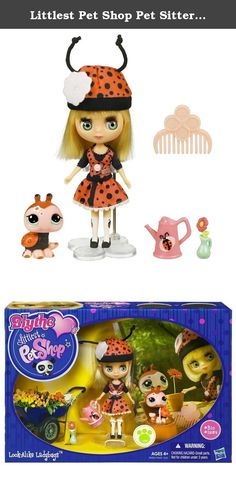 Littlest Pet Shop Pet Sitters - Lady Bug. Hasbro Littlest Pet Shop Blythe -- Look-Alike Ladybugs This beautiful Blythe figure and her ladybug pet come with perfect accessories for flower-filled garden fun. The figure and pet come with a doll stand, comb and other accessories. Warning: Small parts can pose a choking hazard to children under 3. Product Dimensions: 2.5 (L) x 10 (W) x 7 (H) Age: 4 years and up .
