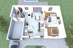 Visualisez le plan 3D d'un de nos modèles de maison 2 chambres Alliance Construction