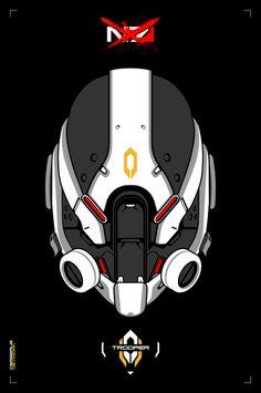 Cerberus : Trooper by on DeviantArt 2d Character, Character Concept, Concept Art, Character Design, Cyberpunk, Sci Fi Comics, Cerberus, Metal Artwork, Tecno