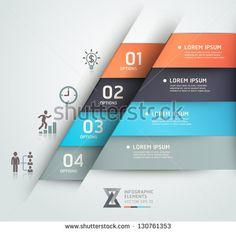Современный бизнес стеб варианты оригами стиль баннер.  Векторная иллюстрация.  может быть использован для размещения рабочего процесса, диаграммы, Настройки Количество, активизировать опции, веб-дизайн, инфографика.