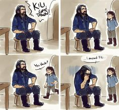 Is this why you called Kili when it looked like Fili got crushed by the mountainside? ... ¬_¬