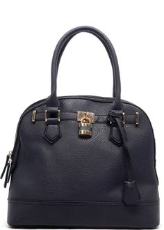 Faux Leather Top Zip Closure Back Zip Pocket Detachable shoulder strap 13 (L) x 12.5 (L) x 5.5 (W)