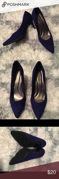 "Comfort Plus Royal Blue Pumps These 3"" royal blue Faux Suede pumps have never been worn and are perfect for a dress or jeans! Predictions Shoes Heels"