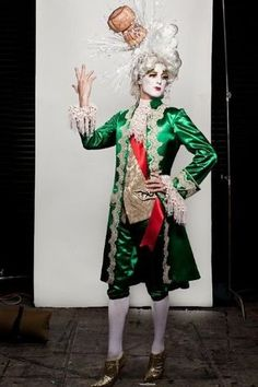 Prince Poppycock wallpaper with a surcoat in The Prince Poppycock Club Halloween 2018, Halloween Costumes, Carnival Costumes, Pierrot Clown, Champagne Corks, Drag King, Theatre Costumes, Creative Costumes, Baroque