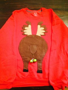 Ugly Christmas Sweater Reindeer Butt by ddianaevans on Etsy