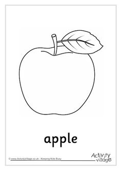 Matching our growing set of food colouring pages, the third of our apple colouring pages comes with a choice of labelled or unlabelled versions making it great to help with learning vocabulary. Apple Coloring Pages, Food Coloring Pages, Apple Activities, Color Activities, Activity Village, Page 3, Business For Kids, Lifehacks, Clip Art
