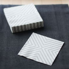 beautiful gray/white chevron napkins...(a little obsessed with color combo and chevron!)