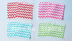 Chevron Paper Favor Bags for Baby Showers Wedding Centerpieces