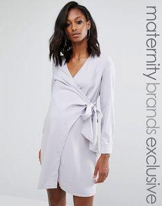 Missguided Maternity | Missguided Maternity Wrap Shirt Dress