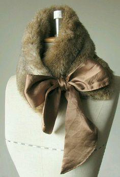 Neck Warmer/ Faux Fur Collar/ Scarf/ foxy brown by YizhenMa Faux Fur Collar, Fur Collars, Colar Diy, Foxy Brown, Fur Accessories, Creation Couture, Fake Fur, Fur Fashion, Sporty Fashion