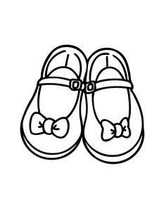 Pretty girls shoes with bows coloring page, printable free Shoes Clipart, Bow Clipart, Baby Girl Bows, Girls Bows, Coloring Pages For Girls, Clipart Black And White, American Dad, Bow Shoes, Miller Sandal