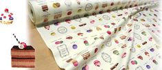 Yuwa Fabric Macaron and sweets by beautifulwork on Etsy, $12.50