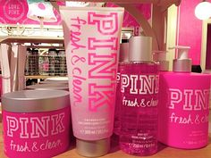 "I absolutely love this smell from Victoria's Secret ""Pink"" line - Fresh & Clean"