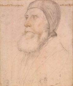 Hans Holbein the Younger, Sketch of John Russell, 1st Earl of Bedford, Lord High Admiral and Lord Privy Seal, c. 1550 - 1554