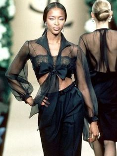 Naomi Campbell for Yves Saint Laurent Spring 1999